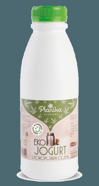 eko jogurt s konopljinim oljem