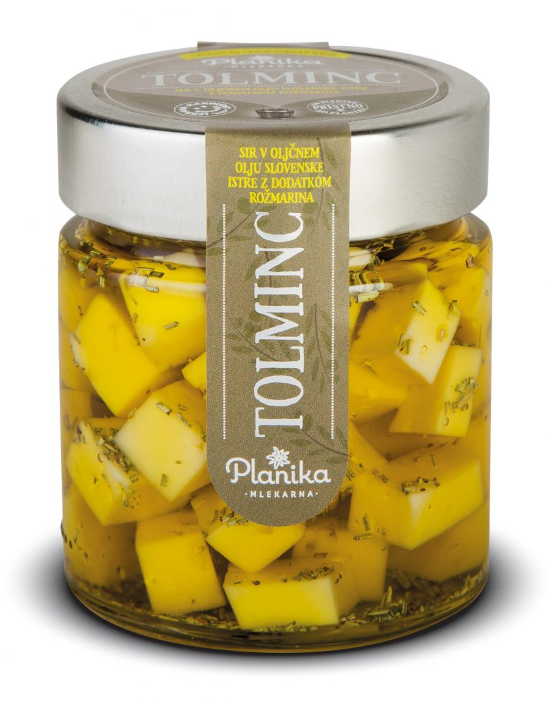 sir v oljčnem olju tolminc planika