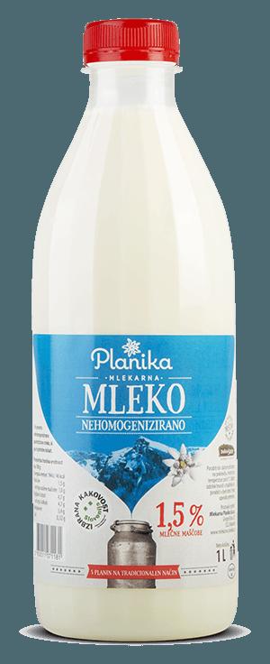sveže mleko mlekarna planika 1,5%