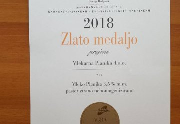 GOLD MEDAL FOR MILK 3.5% m.m.